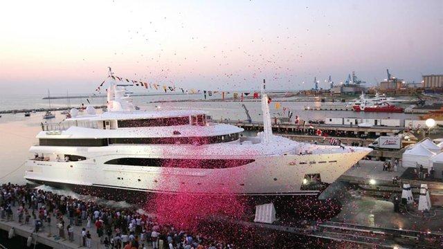 Varo dello yacht CRN MS̀