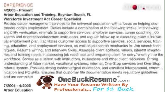 Executive Format Resume