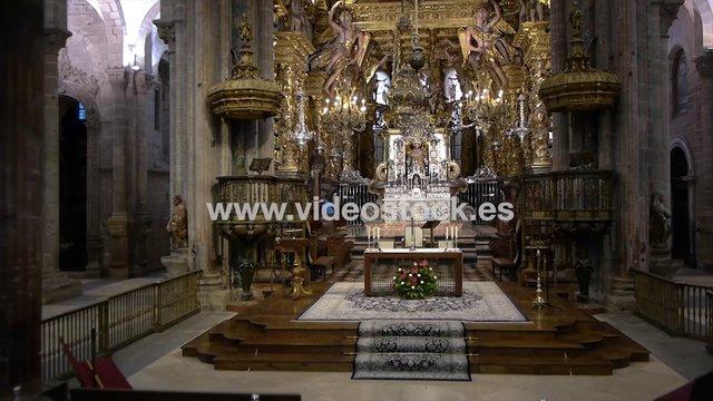 Interior de la catedral of santiago de compostela galicia - Interior santiago de compostela ...