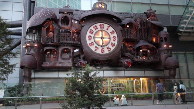 Ghibli clock at Nippon TV building - Tokyo