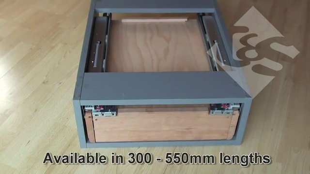 Soft Close & Push To Open Drawer Runner on Vimeo