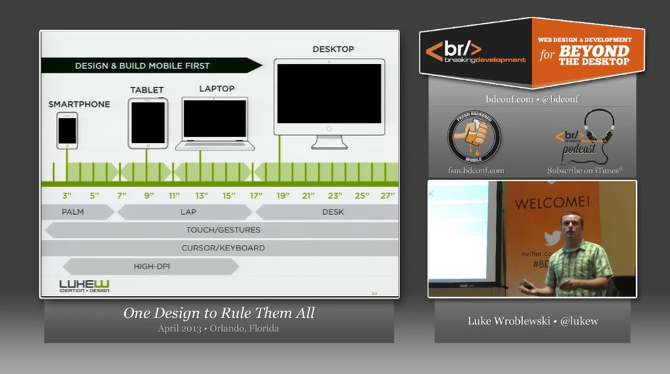 Luke Wroblewski - One Design to Rule Them All - BDConf, April 2013