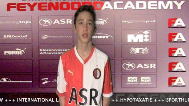 Interview Jordy Wehrmann na Feyenoord C2-PEC Zwolle C2 3-2