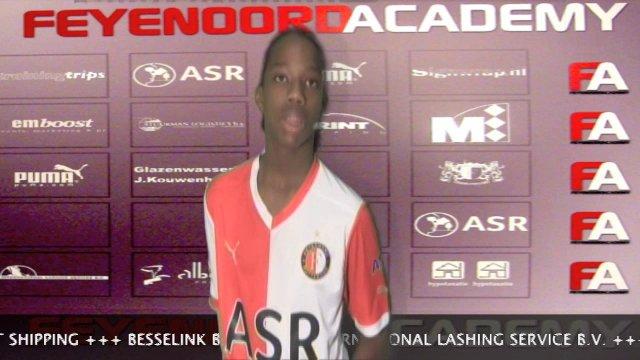 Interview Tyrell Malacia na Feyenoord C2-PEC Zwolle C2 3-2