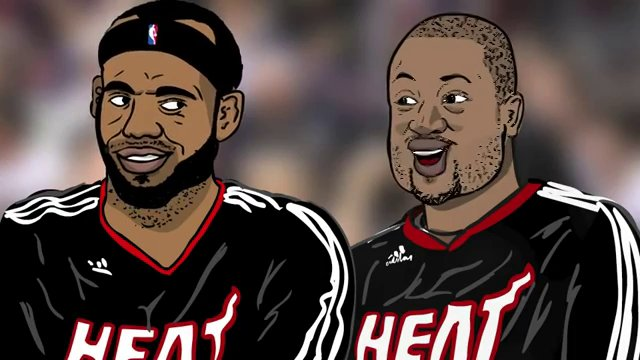 th1ng: 'LeBron James and Dwyane Wade' Basketball Friends - Adam ...