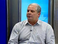 Fernando Ramalho Diretor Comercial Mercadinhos São Luiz conversa com Alfredo Marques e Freitas JR no Direto da Redação