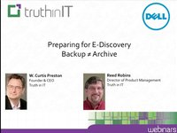 Preparing for E-Discovery: Backup is not Archive