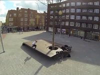 First Flight ft. Edwin Wieringh, Hans Hardonk & Roel Verhoeven     I just bought a DJI Phantom this week and took my first couple of flights around the neighbourhood with my GoPro Hero 3 Black attached to its undercarriage Unfortunately Holland is very windy, which made it hard to get smooth images right off the bat. I also filmed a small session with Edwin Wieringh, Hans Hardonk and Roel Verhoeven on Amsterdam's newest skatespot, the Wittedewithstraat Curb. Here I shot some extra footage using a  Canon 5d MarkII and the GoPro Hero 2. These were my first times going up with this new little camerahelicopter, and while filming a church in Ransdorp the heavy wind took the Phantom right out of my sights, but luckily the 'return to home function' worked perfect. It did give me a few moments of cold sweat though. I can't wait to improve my flying skills, and start flying on some really hard to reach spots! My partner in crime Axel van Dijk has also just purchased the DJI Phantom, so expect much more fly edits to come soon.    -Remy Cadier    Music: Mono/Poly - Needs Deodorant  Buy it here: https://itunes.apple.com/us/album/manifestations/id425844524