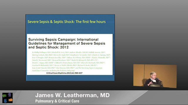 Management of Patients with Severe Sepsis