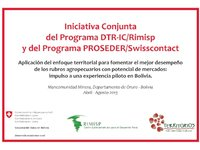 Iniciativa conjunta DTR-IC/Rimisp y PROSEDER/Swisscontact en Bolivia