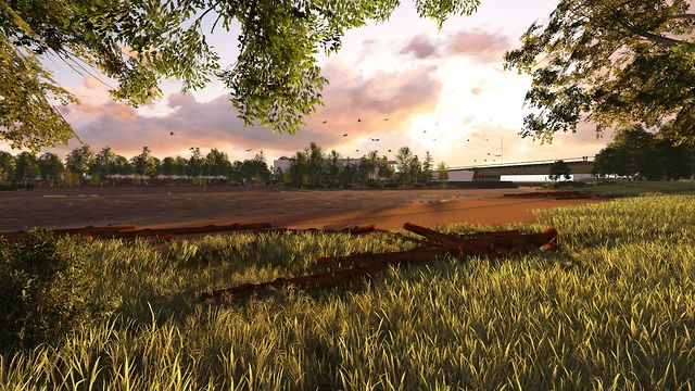 RiverFirst Scherer Park and Hall's Island 3D Fly Through Animation