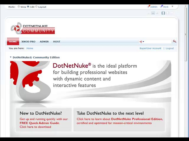 See how to install XMod Pro on your DotNetNuke (DNN) website. The process is similar for whichever versions of XMod Pro and DNN you are using.