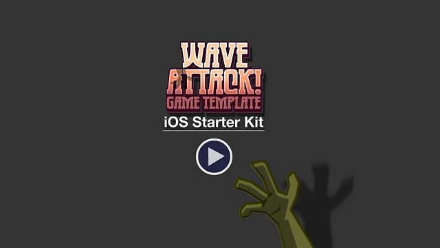 Wave Attack Shooter Game Starter Kit - Universal iOS App video