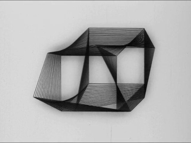 """Cube Transformation Study"" (1972) by Manfred Mohr"