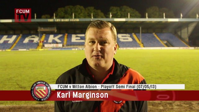 FCUM v Witton Albion - Playoff Semi Final - Post Match Interview