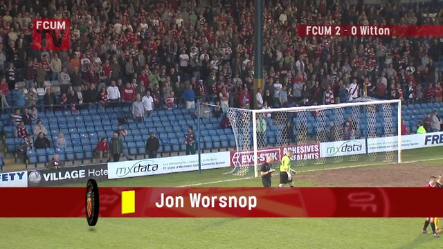 FCUM v Witton Albion  Playoff semi final - Goal 3