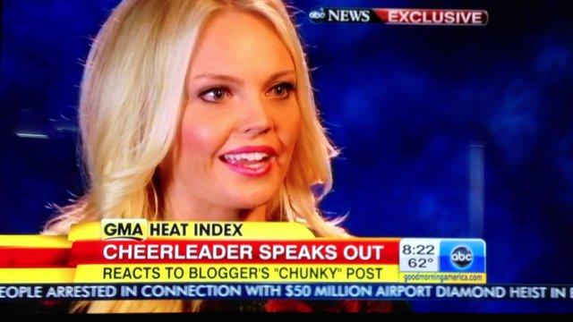 OKC Thunder Cheerleader on Good Morning America on Vimeo