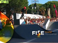 Roman Abrate - 1st Final  Roller Slopestyle - FISE World Montpellier 2013