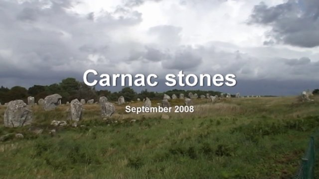 Carnac stones (FR 2008 HD)