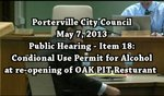 City Council May 7, 2013 The Oak Pit Re-Opens