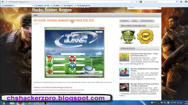 Download Top Eleven Football Manager Cheats hack 2013