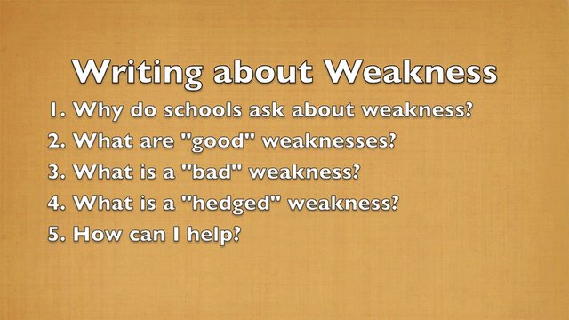 Weaknesses in writing