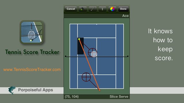 Tennis Score Tracker for the iPhone, iPad, and iPod touch