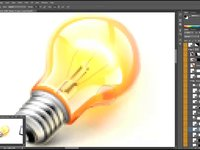 Video process of drawing bulb icon