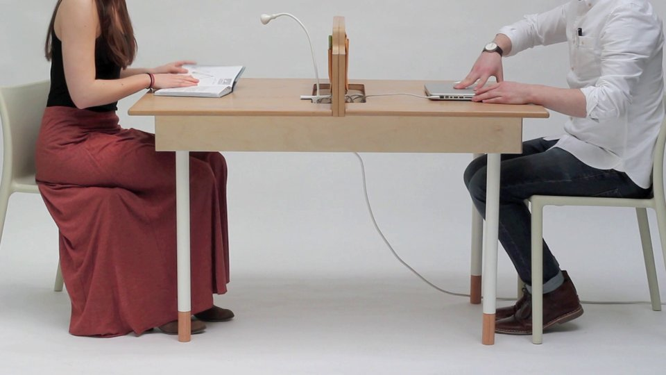 Office For Two Transmogrifies Into 6 Person Dining Table