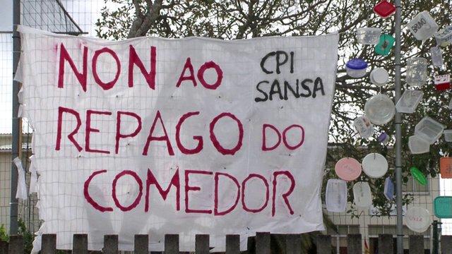 Video protesta de la AMPA del CPI de San Sadurniño