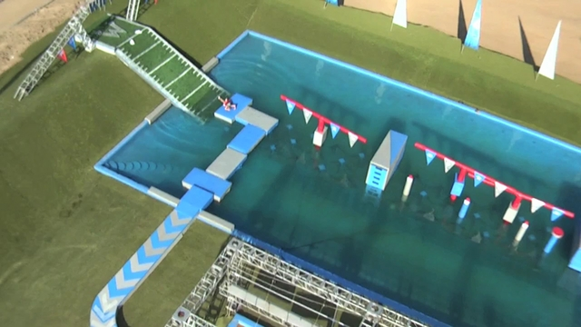 "ABC's ""Wipeout"" TV show - Aerial Clip 3"