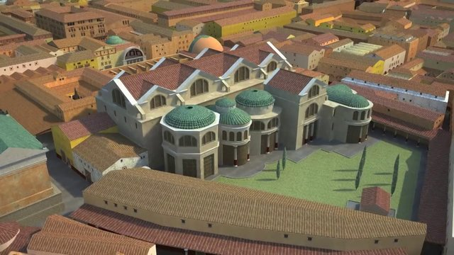 Ostia Antica, harbour of the Imperial Rome - A computer reconstruction