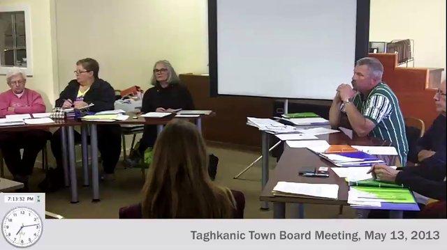 May 13, 2013: Taghkanic Town Board Meeting (video)taghkanic town