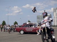 This was great chance for Nils to show that he is real stuntman with no limits in his mind. From idea to real deal he did 10 m gap over three cars in front of couple hundred people and live television. Next time - more cars, more flying!    DOP: Mārtiņš Jansons  Additional cameras: Ivars Pavlovičs, Reinis Pētersons, Konstantīns Makarovs  Gopro camera operator: fired:)    Editing: Mārtiņš Jansons, Ivars Pavlovičs    Music: GACHO - Stampā grīdu    http://www.therolling.lv/  https://www.facebook.com/therolling  http://www.ggfest.com/     2013