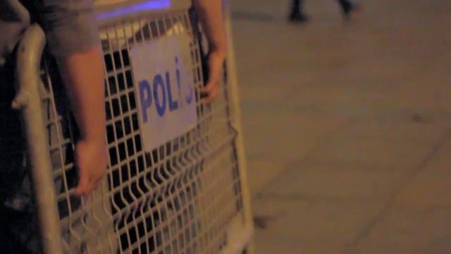 Occupy Gezi - Barricades at Dolmabahce