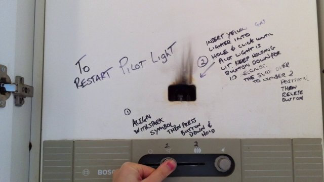 Instructions for Relighting Pilot Light on Bosch Hot Water Heater