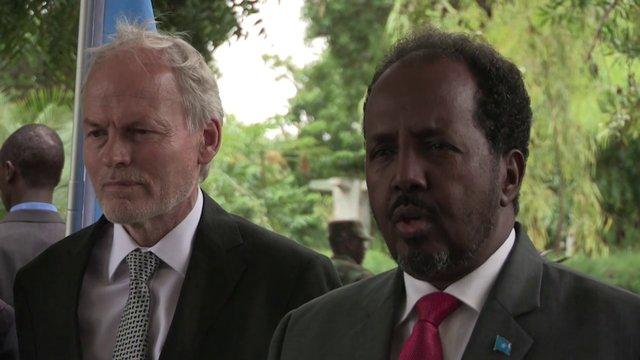 SRSG NICHOLAS KAY MEETS SOMALI PRESIDENT, HASSAN SHEIKH MOHAMUD