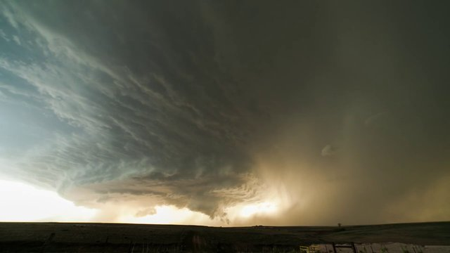 A supercell near Booker, Texas