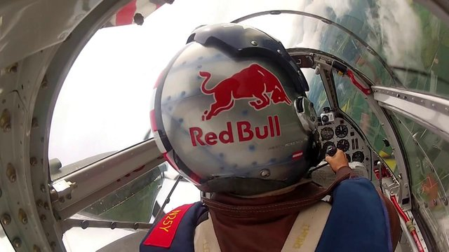 Red Bull P38 & F4 Corsair display at La Ferte Alais, 19 May 2013