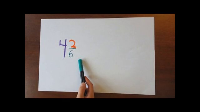Converting Mixed Numbers to Improper Fractions on Vimeo
