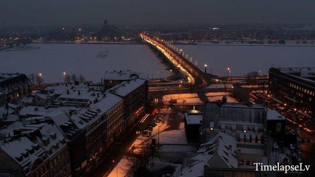 Winter in Riga Timelapse video