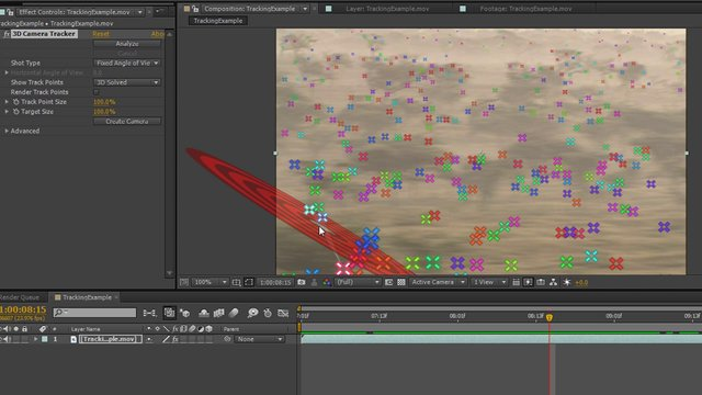 After Effects - 2D Track from 3D Camera Tracking