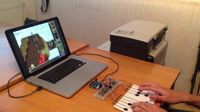 Paper hid keyboard using arduino leonardo and bare