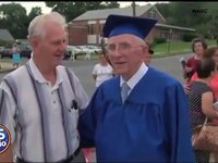 85 year old man graduates