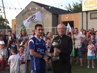 Conor Collects the Cup for Claudy!