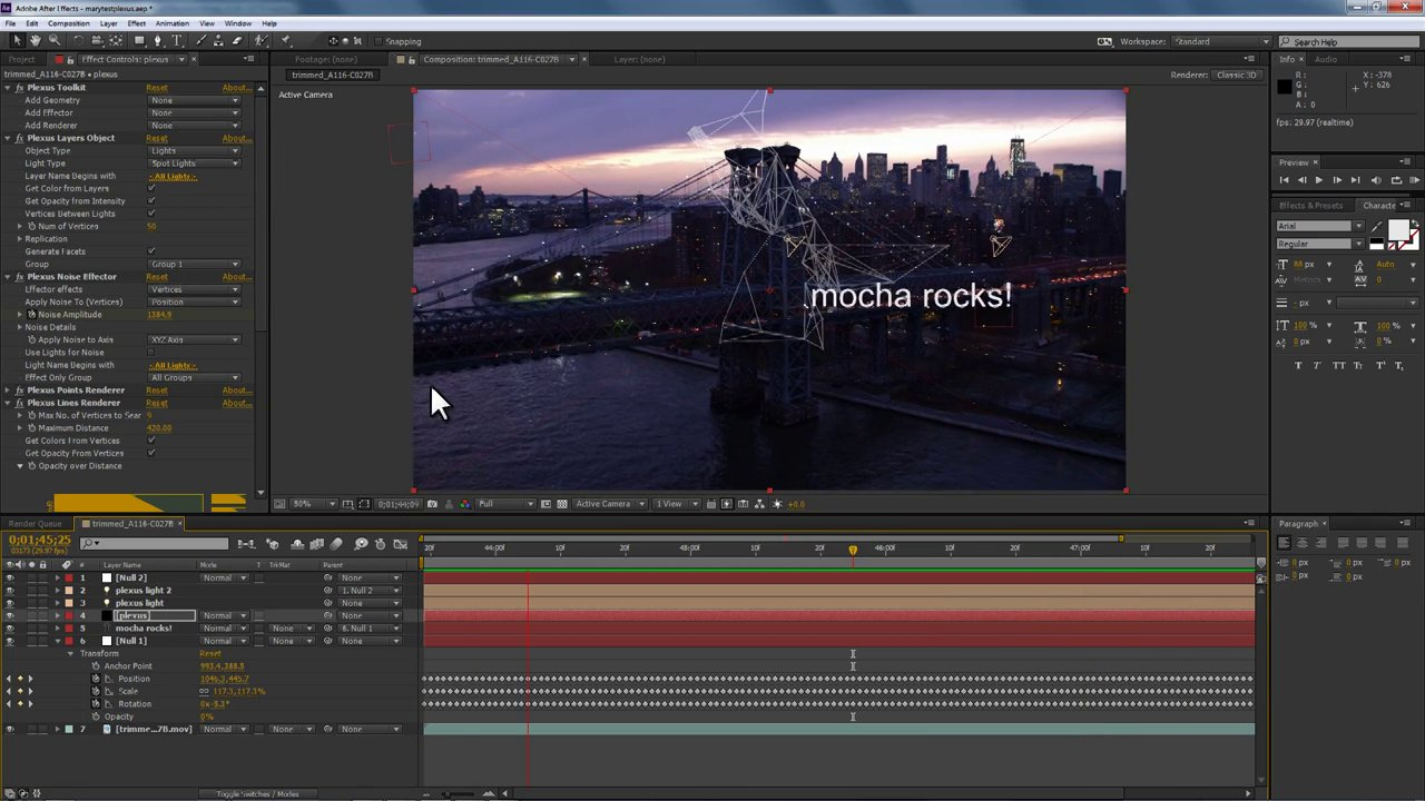 Motion Tracking for Title Design with After Effects Creative Cloud and mocha AE