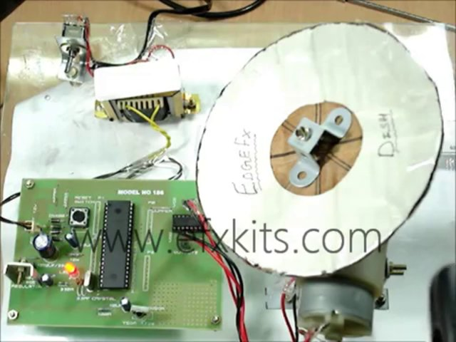 Dish position control by stepper motor geared motor and ir for Stepper motor position control