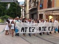 Atez atekoaren aurkako manifestaldia Ordizian