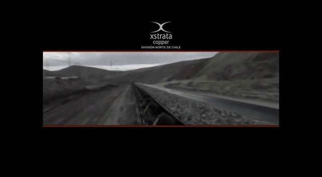 Im�genes de las operaciones mineras de la Divis�on Norte de Xstrata, en un montaje atractivo y moderno.