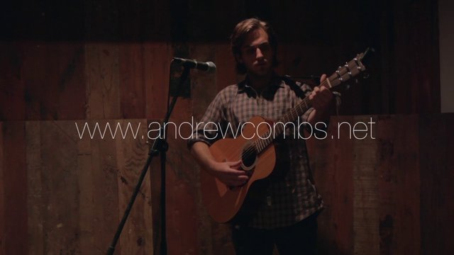 """Andrew Combs playing """"Suwanee County"""" at the XIX Studios bar."""